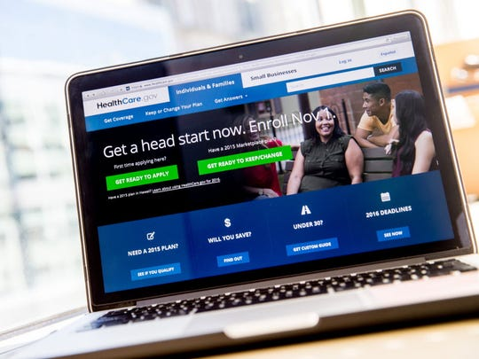 In this photo taken Oct. 6, 2015, the federal HealthCare.gov website,is displayed on a laptop screen. Health care co-ops created under the 2010 Affordable Care Act are failing at a rapid rate due to a variety of factors.