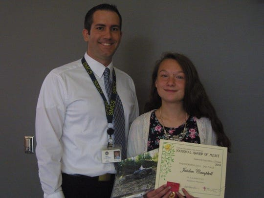 Last year, St. Mary Catholic Middle School students participated in the Catholic Daughters of Americas education contest. Jaiden Campbell won at the local and state level, and she took second place in the photography division nationally.