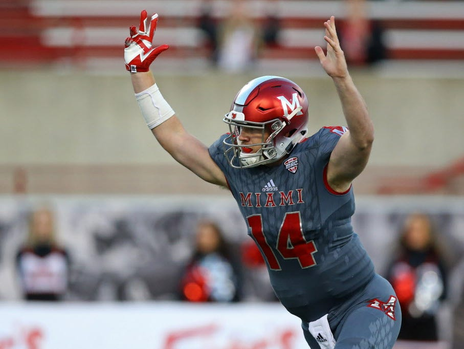 Miami Oh Reaches Bowl Eligibility With Win Over Ball