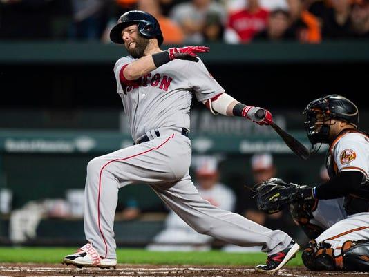 USP MLB: BOSTON RED SOX AT BALTIMORE ORIOLES S BBA BAL BOS USA MD