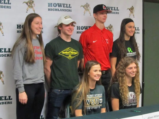 Howell athletes who signed national letters of intent