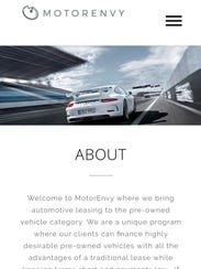 A screenshot of Motor Envy's website. The owner wants