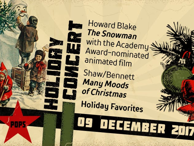 Don't miss this Holiday Concert.  Enter 11/9 -12/3