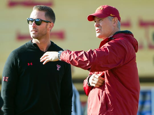 Former Iowa State Cyclones head coach Paul Rhoads and