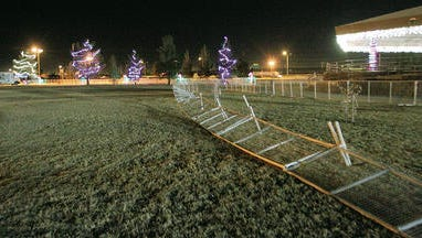 Holiday lights at Shawver Park in El Paso's Lower Valley in 2013.