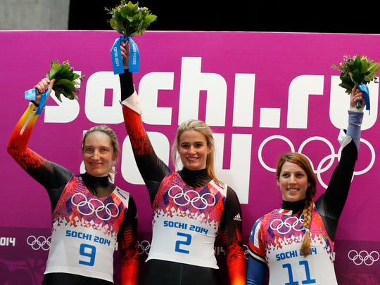 2014-2-11 luge medalists