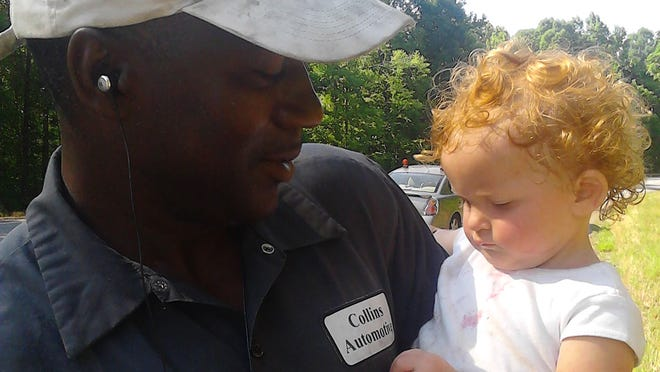 Bryant Collins saved the life of this 15-month-old baby, when he found her on the side of the highway.