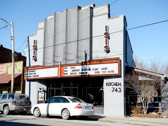 Isis Music Hall on Haywood Road in West Asheville January