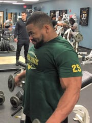 Romello Brown does some heavy lifting at Total Sports