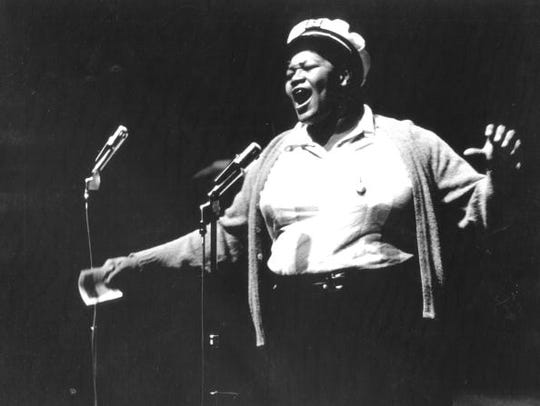 """Big Mama"" Thornton dressed in men's clothing and was"
