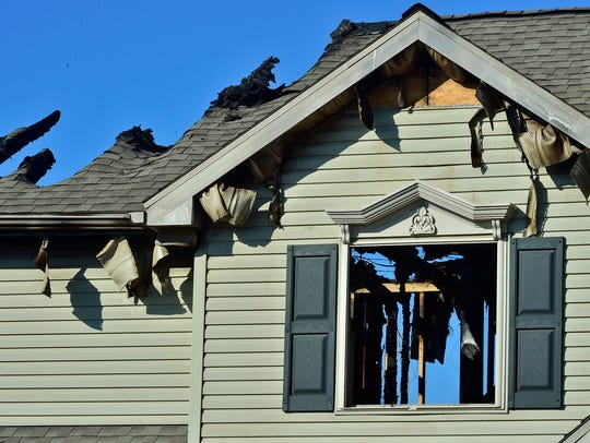 No occupants were injured after fire damaged a home