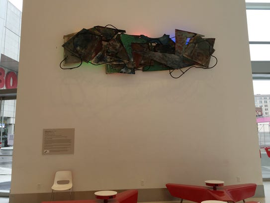 """Robert Sestok's """"Rock and Roll"""" (1978-79), made of"""