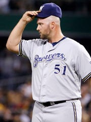Milwaukee Brewers relief pitcher Jonathan Broxton is the current favorite to close game.