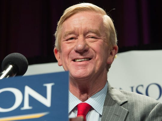 Libertarian vice presidential candidate William Weld speaks at a rally Sept. 10, 2016, in New York.