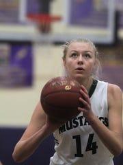 Brossart freshman Marie Kiefer shoots a foul shot during