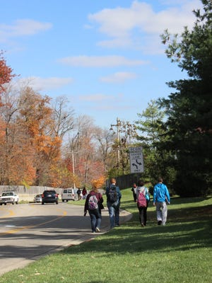 Students walking home from school along Joseph Road have traffic and a lack of sidewalks to contend with. Colerain Township is working to install sidewalks on a portion of the road to make it safer for students and residents.