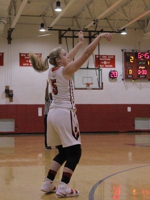 Red Creek's Izzy Wilbur lets a shot go.