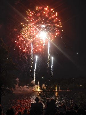 People gathered to watch the fireworks in 2014 on the Mississippi River at Hester Park.