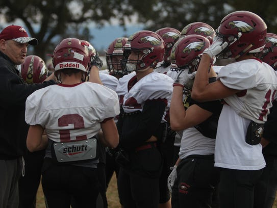 West Valley football practices Tuesday.