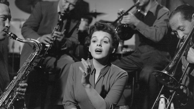 "Judy Garland films a scene from the 1954 film version of ""A Star is Born"" that earned her an Academy Award nomination. She was a favorite to win until the studio drastically cut the film shortly after its initial release."