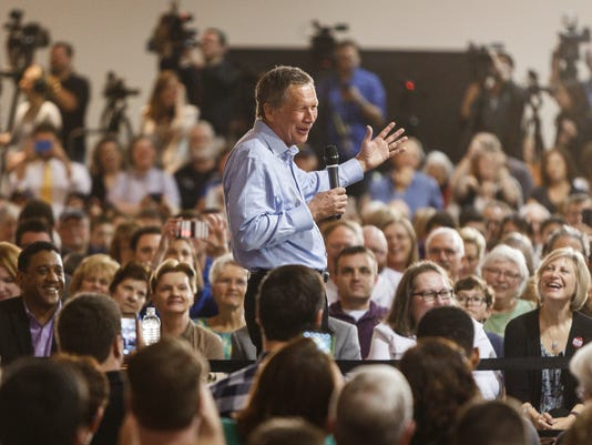 John Kasich town hall at the Antique Automobile Club of America Museum