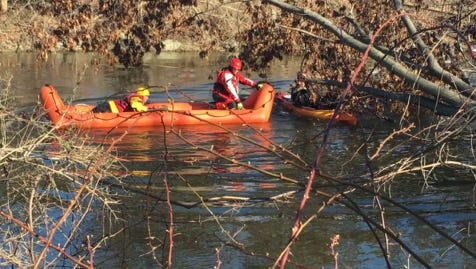 Emergency personnel rescued a Nyack, Rockland County woman from Wappinger Creek Saturday.