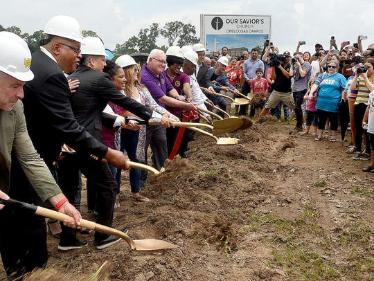 Groundbreaking ceremonies for the Our Savior's Church Opelousas Campus.