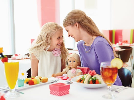 Dining is available at some of the American Girl stores, which will include the new Scottsdale store in 2015.