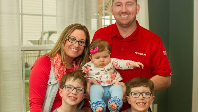 The Hinson family: Megan, Michael, Cooper, Easton and little Gracelyn Hope.