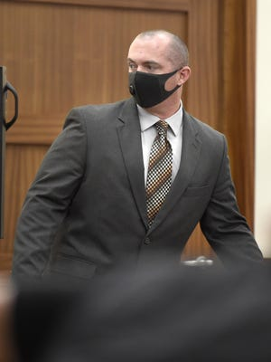 Former narcotics officer Patrick Kaney during his sentencing for stealing narcotics from an evidence room. Photographed at the Augusta Judicial Center in Augusta, Ga., Thursday morning June 18, 2020.