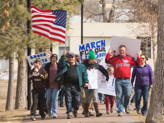 More than 100 people attended the March For Our Lives rally in Great Falls on March 24.