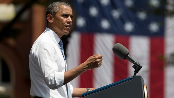President Obama speaks about climate change at Georgetown University last June.