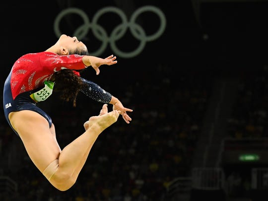 Laurie Hernandez of Old Bridge performs on the balance beam during women's gymnastic qualifications in the Rio 2016 Summer Olympic Games on Aug. 7.