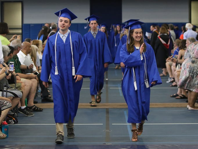 Members of the Whitefish Bay Class of 2017 proceed