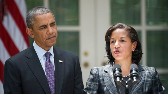 National Security Advisor Susan Rice speaks after President Obama appointed her during an event in the Rose Garden in 2013.