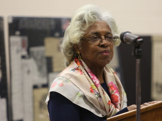 Wilhelmina Robinson accepts the Buffalo Soldier award