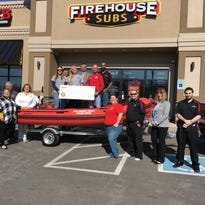 Firehouse Subs donated an inflatable boat to the Montgomery County Volunteer Fire Service on Thursday,