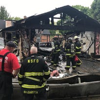 Glendale garage fire spread to nearby house