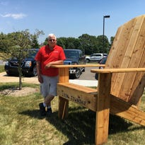 That's a big chair! Try out the new Lyon Township seat