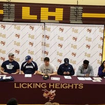 Licking Heights athletes make college commitments