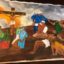 Death row inmates in Nashville paint scenes of Jesus' crucifixion. Here's why.