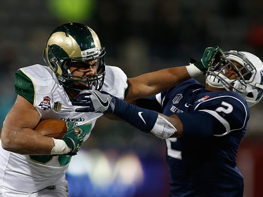 Izzy Matthews (left) finished his career at Colorado State on the school's top-10 list of leading career rushers.
