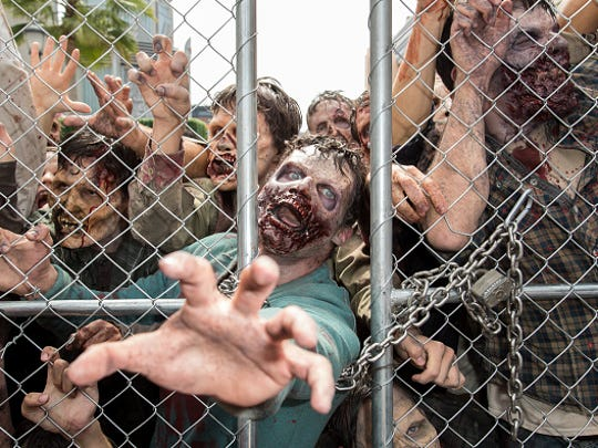 "The season finale of ""The Walking Dead"" takes place at 9 p.m. Sunday. Millennial Brewing Company will host a watch party with themed beer and food."
