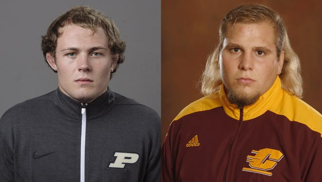 Oconto Falls native Jacob Morrissey (left) and Casco native Newton Smerchek (right).