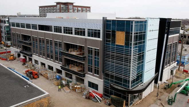 The 74,000 square foot building under construction by Southfield-based Etkin LLC on Wednesday, May 2, 2018 in Royal Oak.