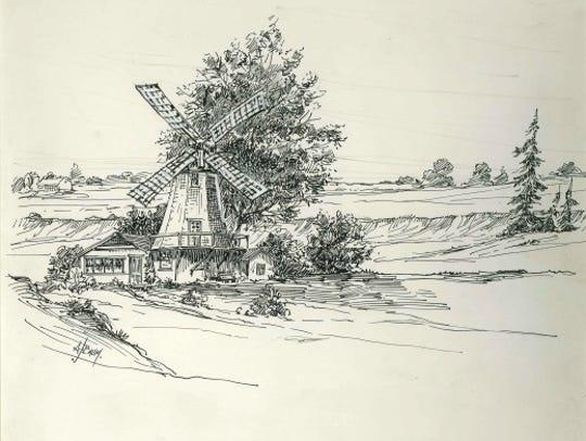 TeRonde Windmill on Windmill Beach Road near Oostburg,