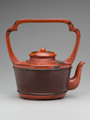 """Vessel for Hot Water."".Japan  late 15th-early 16th century. Wood, red and black lacquer (Negoro ware)."