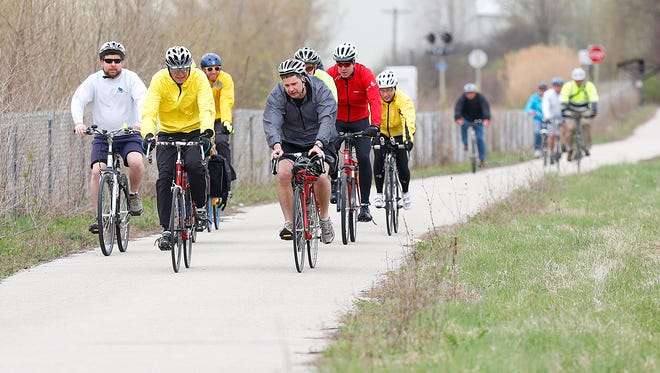 City of Fond du Lac staff, elected officials, bike retailers and bike advocates recently rode the Fond du Lac Loop with Steve Clark, community specialist of The League of American Bicyclists. City officials hope to have Fond du Lac placed on the the league's website as a bike-friendly destination.