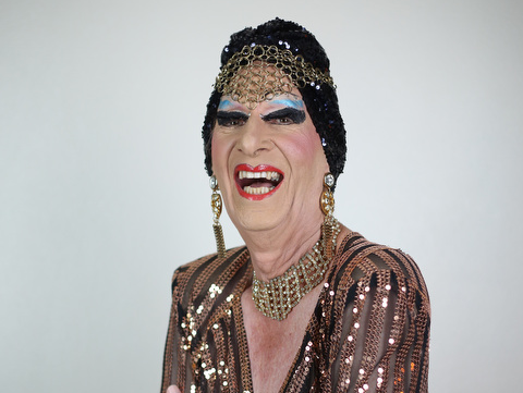 """Denville native James """"Gypsy"""" Haake is a veteran performer with a background in theatrical productions. He will be bringing his performance to the desert. In this photograph Haake is photographed by Snapshot Palm Springs photo studio."""