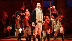 """A touring production of the hit Broadway musical """"Hamilton"""""""